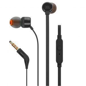 Audífonos JBL T110 In-Ear con micrófono negro