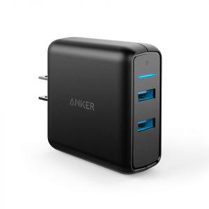 Cargador Anker powerport speed2 quickcharge 2USB negro