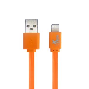 Cable de Carga para iPhone (Lightning) Xtech Color Anaranjado de 50 cm