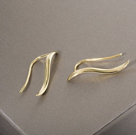 4c593c348870 Aretes trepadores de plata 925 bañados en oro de 18k - Kemik Guatemala