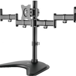 Soporte de 2 Brazos para 3 Monitores de 13″ a 27″ marca Klip Xtreme KPM-321