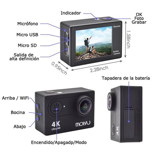 Cámara de Acción y Depórtiva 4K Ultra HD