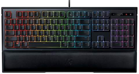 Teclado alámbrico gaming Razer Ornata Chroma color negro