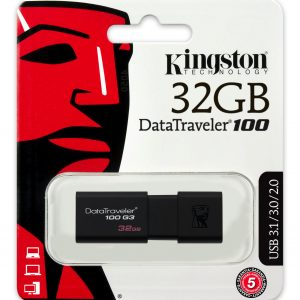 Memoria USB Kingston DT100 32GB Color Negro