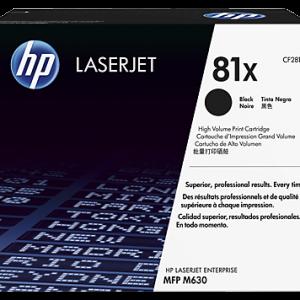 Cartucho de tóner HP 81X negro