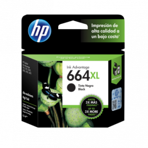 Cartucho HP 664XL Negro