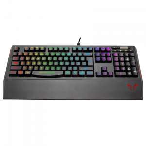 Teclado alámbrico USB gaming Riotoro Ghostwriter Classic color negro