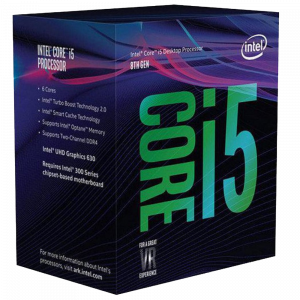 Procesador Intel Core i5-8400 8th Gen 2.8Ghz (4.0Ghz Turbo) Hexa Core Cache 9Mb LGA1151 v2 UHD Graphics 630