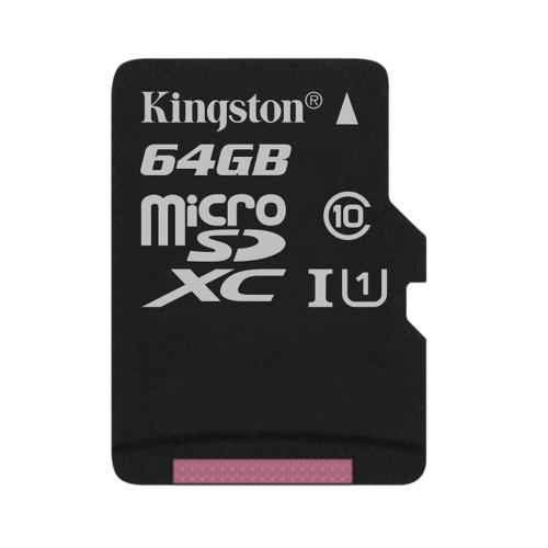Tarjeta de memoria flash Kingston Canvas Select 64 GB (adaptador microSDXC a SD Incluido)