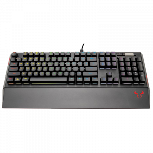 Teclado Mecánico Gaming Riotoro RGB Brown Black en inglés color negro