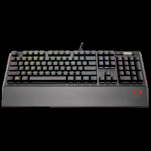 Teclado Mecánico Gaming Riotoro RGB Brown Black en inglés color negro