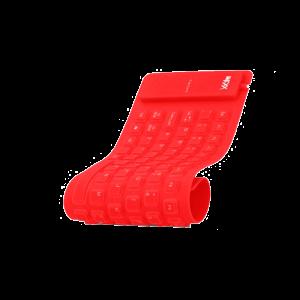 Teclado Flexible Imexx USB en español color rojo