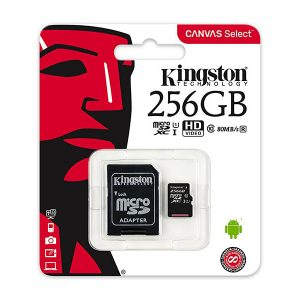 Tarjeta de memoria flash Kingston Canvas Select 256 GB