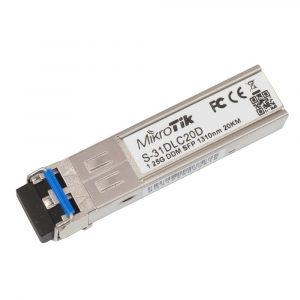 Módulo de transceptor MikroTik S-31DLC20D SFP (mini-GBIC) / modo simple LC