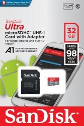 Memoria MicroSD SanDisk Ultra 32GB Con Adaptador Clase 10 Para Android