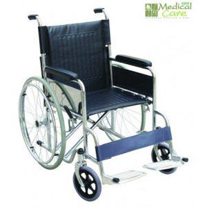 Silla de ruedas cromada Medical Care