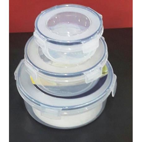 Juego de 3 recipientes plásticos Marca Ragalta