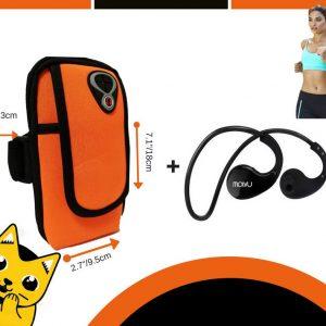 Combo Deportivo Audífonos Bluetooth + Arm Pack