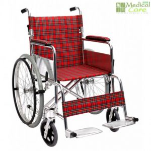 Silla de ruedas roja Medical Care
