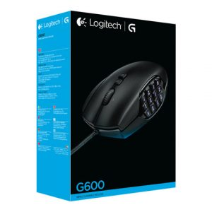 Mouse Alambrico Gaming Logitech G600 MMO 20 botones Color Negro