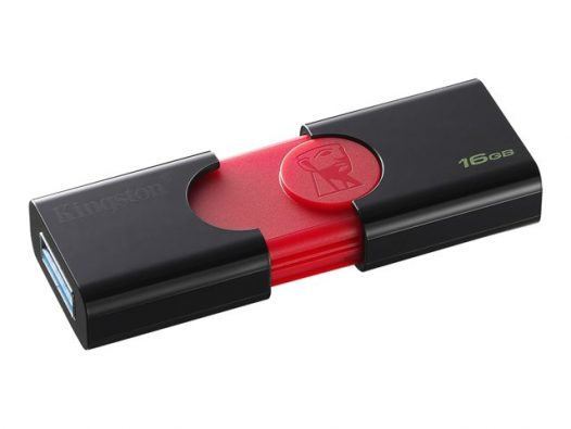 Memoria USB Kingston DT106 16GB Color Negro con Rojo