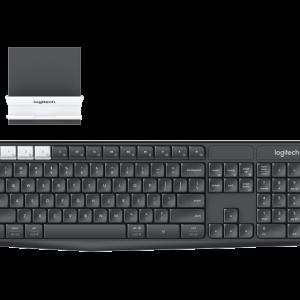 Teclado Inalambrico Bluetooth o Con Receptor USB Logitech K375S En Español Con Soporte Universal