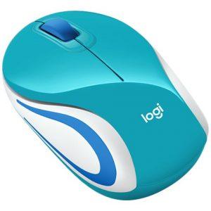 Mouse Óptico Inalambrico Logitech M187 Color Azul Turquesa