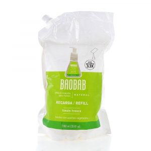 Refill de jabón en espuma para manos - Baobab - Limón Fresco