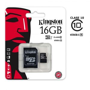 Memoria Micro SD Kingston De 16GB Clase 10