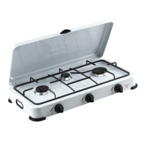 Estufa de mesa de 3 hornillas Marca Premium
