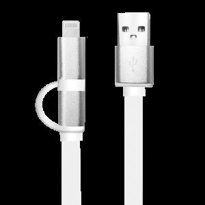 Cable USB a Lightning/Micro USB Argom 2 en 1