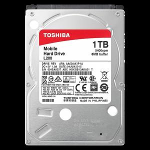 """Disco Duro Interno para Laptop 2.5"""" 1TB Toshiba 5400 RPM"""