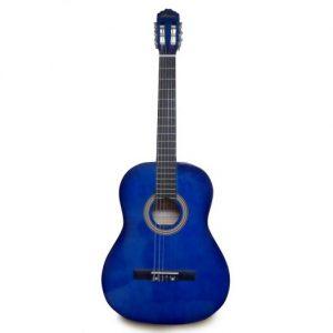"Guitarra Acustica Valenciana 39"" Color Azul Con Estuche"