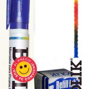 Marcador Permanente recargable + refil de tinta