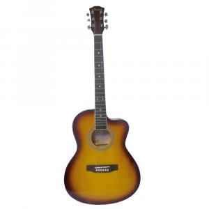"""Guitarra Acústica Valenciana 39"""" Color Yamaha con Negro Con Funda"""