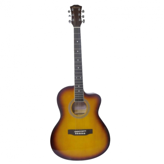 """Guitarra Acústica Valenciana 39"""" Yamaha-Negro C/Funda"""