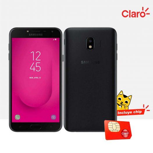 Celular Samsung Galaxy J4 activado con Claro