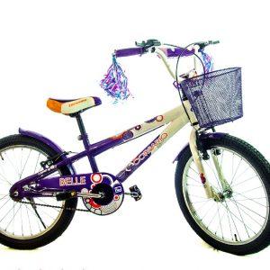 Bicicleta Belle Rin 20 para Niña Color Morado/Blanco