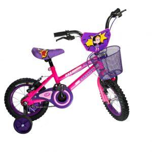 Bicicleta BMX Cross Rin 12 para Niña Color Rosado/morado