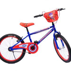 Bicicleta BMX Cross Rin 20 para Niño Color Azul/Rojo