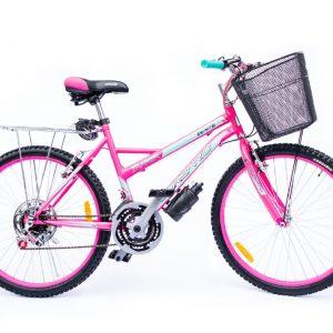 Bicicleta MTB Tracker Rin 24 para Dama Color Rosado