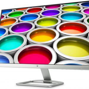"""Monitor HP de 27"""" Slim Full HD X6W32 con Salida HDMI y VGA color Plateado"""