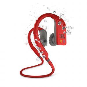Audifonos Bluetooth JBL Endurance Dive Para Nadar color Rojo