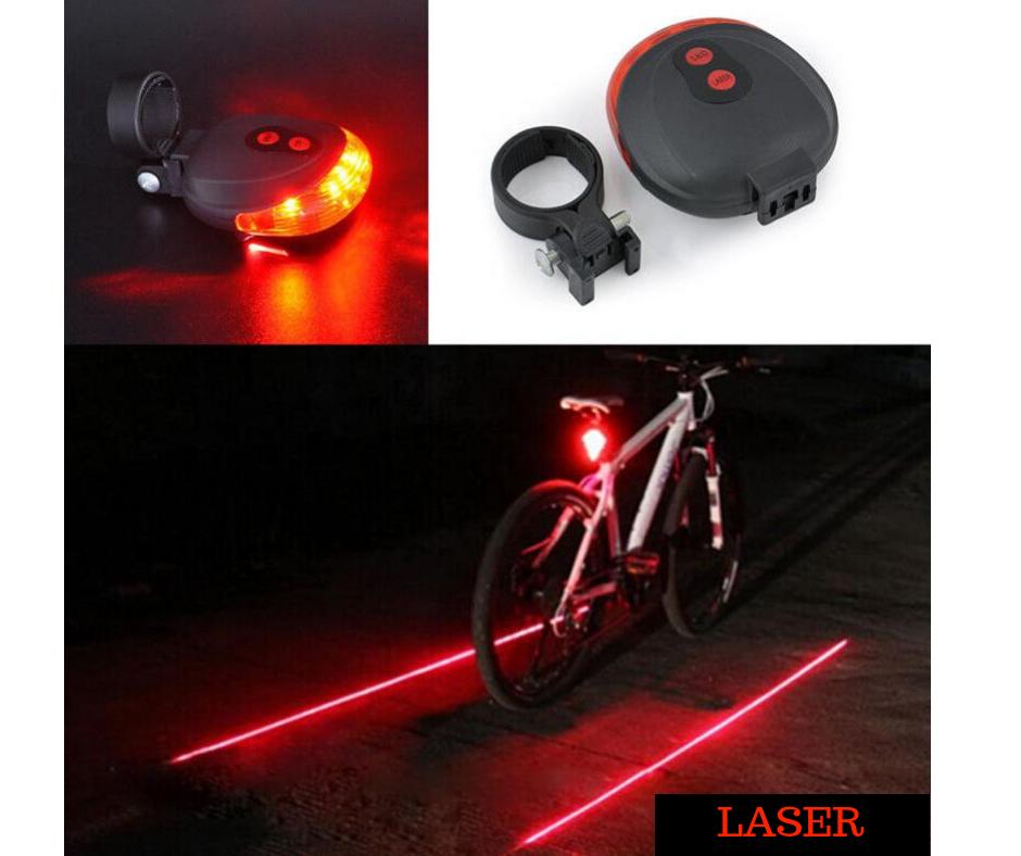 714a01c30 Luz de seguridad para bicicleta o moto con guia de laser - Kemik ...