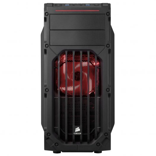 Case Corsair Carbide SPEC-03 Color Negro con Rojo Sin Fuente