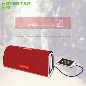 Bocina Bluetooth Hopestar H23 Color Rojo