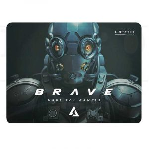 Mouse Pad Gaming Brave 27X32 CM Unno Tekno MP6051GN