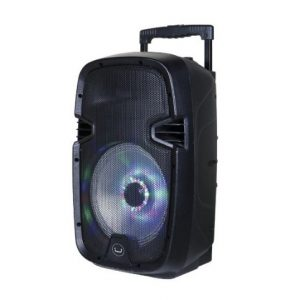 Bocina Bluetooth con luces LED Soundwawe 10 Color Negro