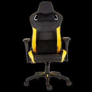 Silla Gaming CORSAIR T1 Color Negro con Amarillo