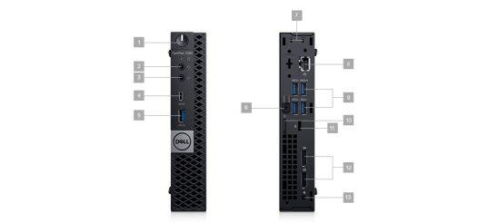 Computadora DELL Optiplex 7060 Micro i5-8500T 8GB 1TB Win10 Pro